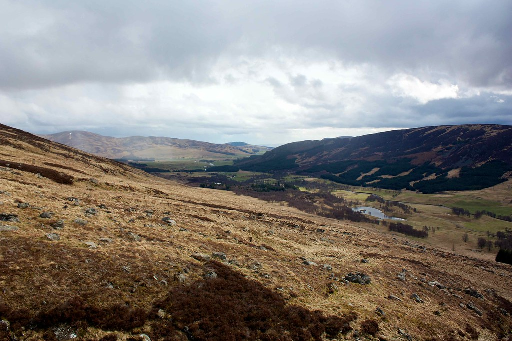 Looking east down Glen Clova