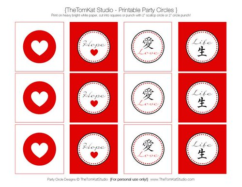 Love for Japan Printable from the TomKat Studio
