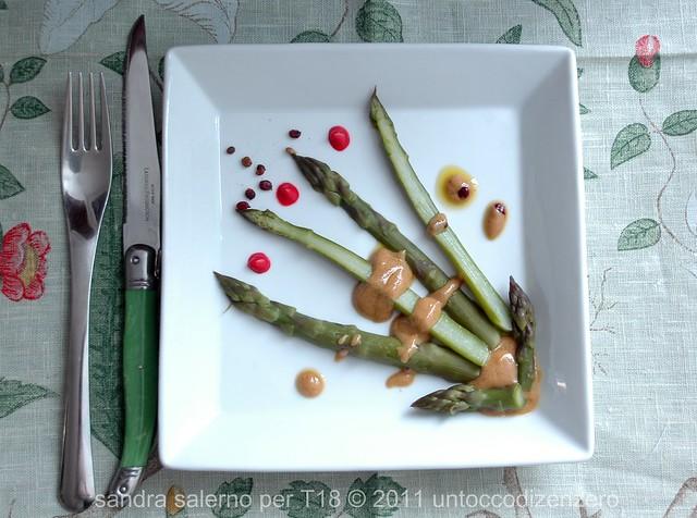 omaggio alla primavera: mazzetti di asparagi