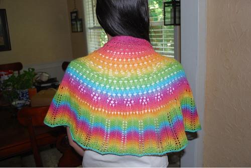 Annies garden shawl