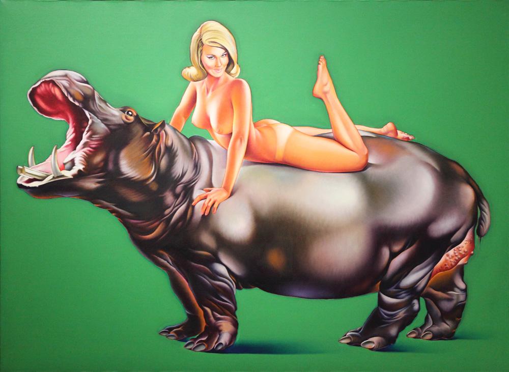 Mel Ramos, Hippopotamus, 1967