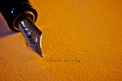 sunset writing (erkua) Tags: sunset sol pen writing de pluma puesta escrita strobist