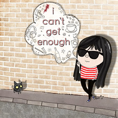 i can't get enough (crosti) Tags: street music love coffee illustration cat watercolor painting greek sketch cool mod pavement smoke kitty smoking brickwall alcohol converse beat coloring booze beatnik allstar goo sonicyouth wayfarer rayban helenk crosti alisonmosshart icantgetenough blackhairedgirl helenakoursou christinatsevis
