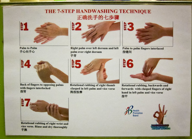 The 7-step Handwashing Guide Found In Public Bathroom