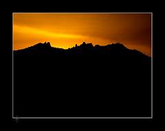 20110411 20:22 CET @ Paco's Balcony (Paco CT) Tags: barcelona mountain silhouette landscape spain paisaje montserrat silueta montaña esp terrassa