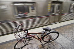 Bicycle at Red Line Station.
