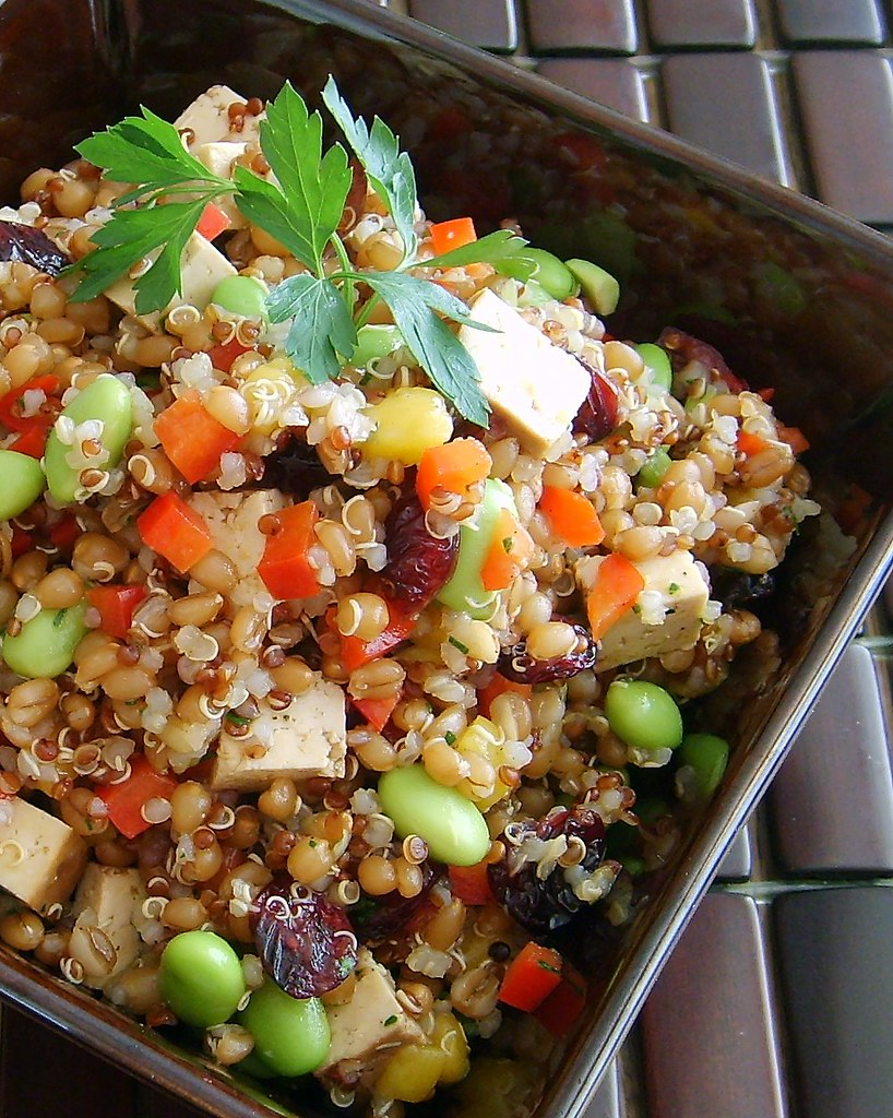 Quinoa & Wheat Berry Salad | Leafy Greens and Me