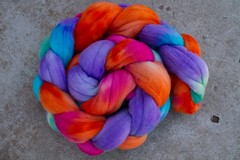 'cake' on superfine merino fiber 4oz