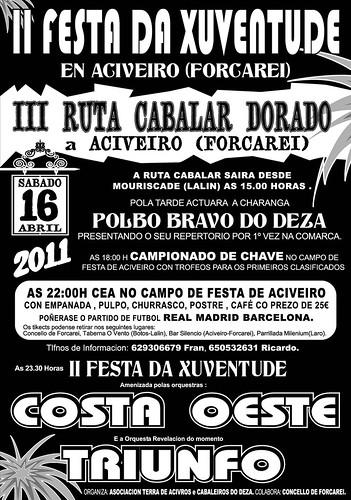 Forcarei 2011 - Festa da Xuventude en Aciveiro - cartel 2
