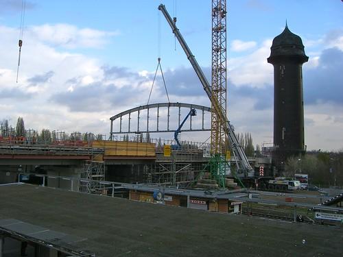 Ostkreuz Ringbahnsteig - die Halle entsteht