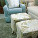 Shaggy Area Rug, Custom Slipcovered Furniture
