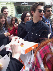 Arthur giving out doughnuts.  Sweet! (chlors) Tags: newyork doctorwho villageeast series6