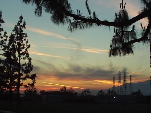Streaked Sky At Sunset