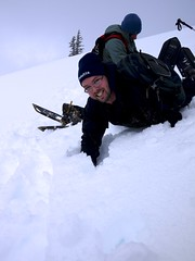 Josh dives down the hill