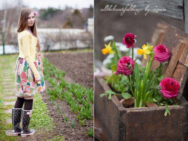 garden girl pillua tarjolla