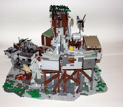 "Frontier Outpost ""The Rock"" (Babalas Shipyards) Tags: camp haven post lego apocalypse base frontier outpost minfigure"