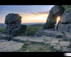 Sunburst (HD Photographie) Tags: sun france tower rock roc soleil nikon tour ardennes coucher hd nikkor sunst hdr coucherdesoleil herv 2011 d700 roclatour dapremont hervdapremont hervdapremont httphdphotographiedaportfoliocom