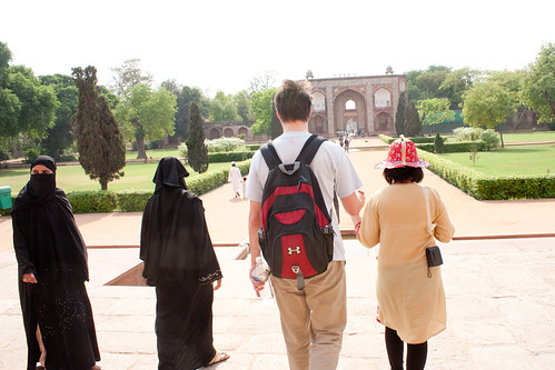 Leaving Humayun's Tomb