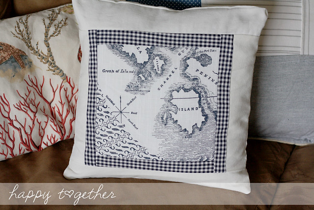 The map is from an Anthropologie napkin