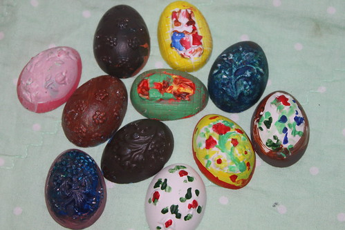 Plaster eggs finished