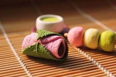 Sakura Cake, Dango and Tea (crayonmonkey) Tags: cake japan japanese miniature spring tea eraser small dango matcha wagashi