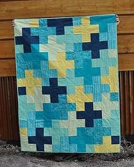 plus quilt (Lila Jo) Tags: blue boy yellow quilt navy blanket plus