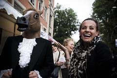 Am I the only one who sees this? (zio Gil) Tags: horse mask unposed fuorisalone milanodesignweek horsemask creepyhorsemask bottegadelbaro