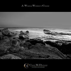 Life Without Color (Chad McDonald) Tags: ocean california ca travel vacation white black beach water beauty canon landscape evening sand rocks paradise sandiego chad signature border gray saturday lajolla pacificocean april 450 mcdonald xsi drapervillas