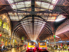 London's Paddington Train Station in HDR