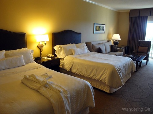 Our room at Westin La Cantera. Two double beds, balcony.