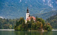 Lake Bled (AudreyH) Tags: slovenia lakebled bledisland churchoftheassumption