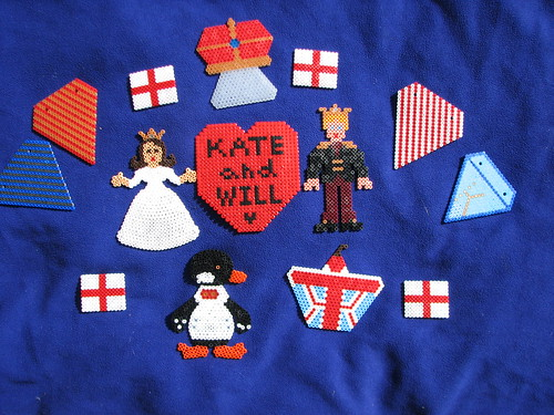 Royal Wedding Easy Kids Craft in Hama Beads