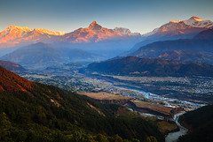 wanna see you again (Helminadia Ranford) Tags: travel nepal sunset nature landscape day clear pokhara annapurna helminadia
