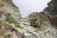 大キレットの梯子