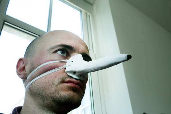 Finger-nose Stylus for Touchscreens
