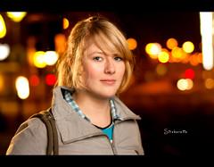Day 265 - Stroberette (Daniel | rapturedmind.com) Tags: portrait girl 50mm warm colours bokeh nightscene day265 project365 strobist bokehballs 265365 strobista bokehbubbles sigma50mmf14exdghsm stroberette