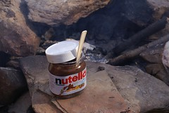 Nutella for our cold breakfast - Yummy