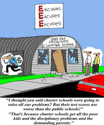 charter-schools-excuses editorial cartoon
