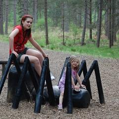 Girls having fun (Explored) (Sarah Blizzard) Tags: woods hsm soundtrackmonday