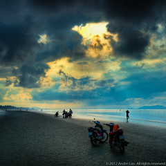 Looking For Clams After The Storm (Andre Luu) Tags: sea sky seascape storm nature water clouds sunrise landscape fineart clam vietnam lowtide hochiminhcity waterreflection superwideangle seabed seatexture cangio bestlandscape sealandscape sandtexture cloudpattern wildbeach beachstorm groundtexture toplandscape oceanlandscape bestcomposition musselpicking sal1635z sonya850 stormsunrise zeisszavariosonnart1635mm zeiss1635za