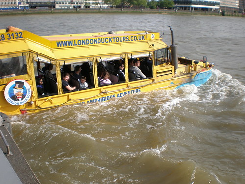 London Duck Tours on the Thames