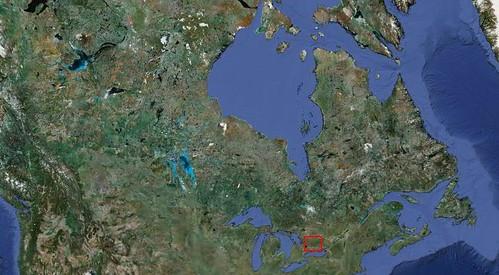 Canada satellite photo
