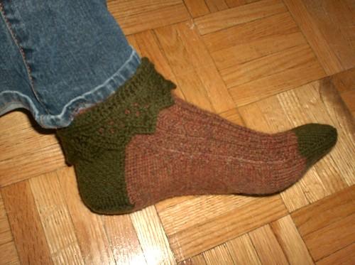 Garden Stroll Socks - Sock #1 Complete