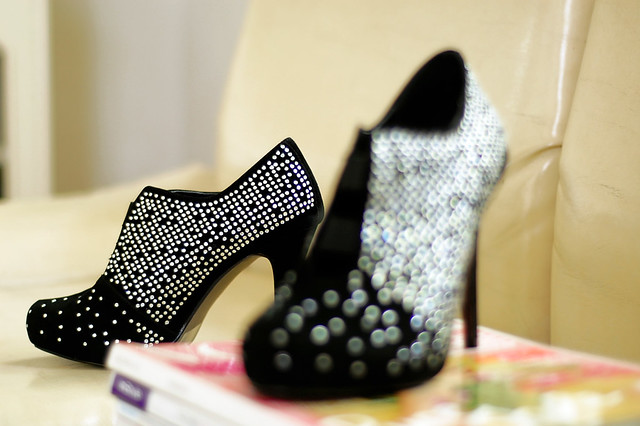 star studded shoe