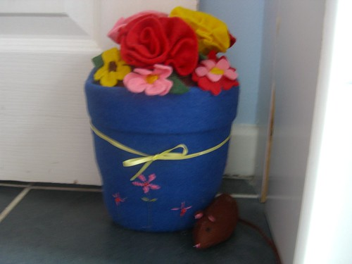 Flower Pot Door Stop by Aunt Angie.