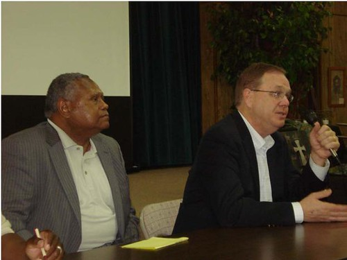 Left to right: Lawrence McCullough, Arkansas State Director, Under Secretary for Rural Development Dallas Tonsager.