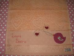 Toalhinha da Laurinha (Studio Be Happy) Tags: bebê patchwork applique toalhinha patchcolagem toalinhaboca
