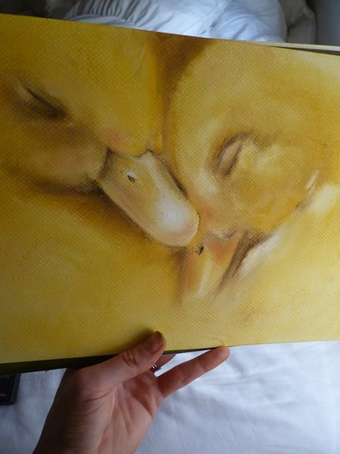 Working on some sleepy ducklings... almost done. by jennyfrith