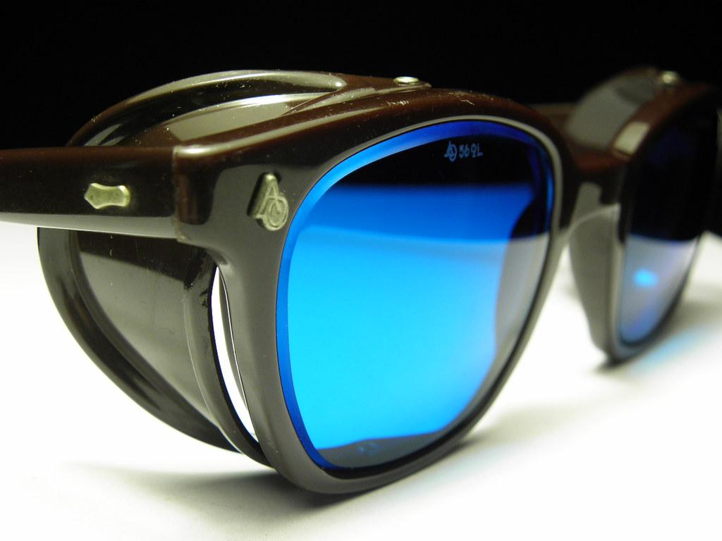 20dbf99647d AO Horn Rim Brown Blue 1 (jmg opticks) Tags  hot art sunglasses vintage