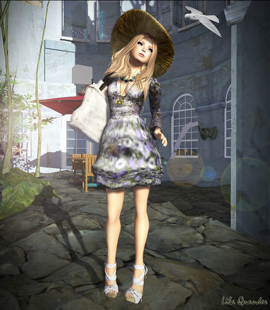 CHANTKARE HARBOR DRESS SILVER & SUN HATE HAT